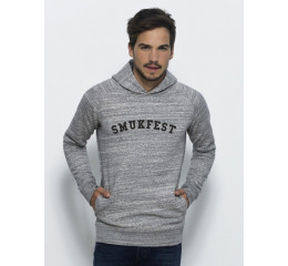 sweatshirt med hætte grå med Smukfest tryk