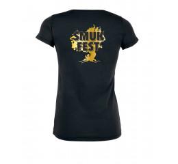 Årets T-shirt dame sort med guld tryk.