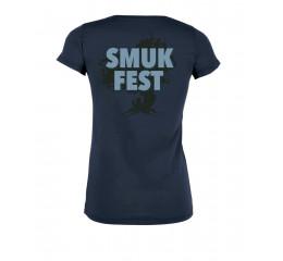 Årets T-shirt dame navy med Smukfest tryk.