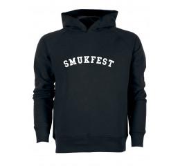 Sort sweatshirt med hætte