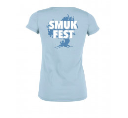 Årets T-shirt dame sky blue med Smukfest tryk.